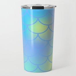 Turquoise Mermaid Pattern Travel Mug