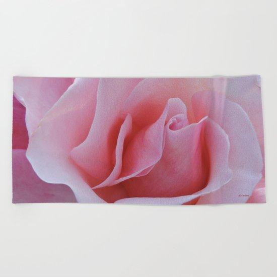 Rose Petal Pink Beach Towel