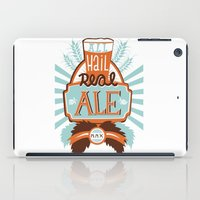 ale giorgini iPad Cases featuring All Hail Real Ale by Kerry Hyndman