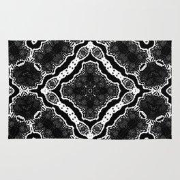 abstract jewel black II Rug