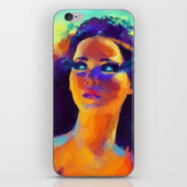 The Girl On Fire iPhone Skin