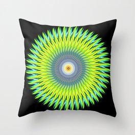 Green Machine Spiral Art Design Throw Pillow