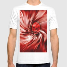 raspberry swirl Mens Fitted Tee MEDIUM White