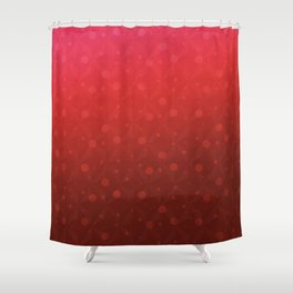 Red Tone on Tone Dots Pattern Shower Curtain