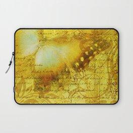 LE PAPILLON | yellow Laptop Sleeve