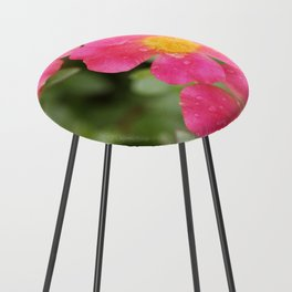 Neon Flowers Counter Stool