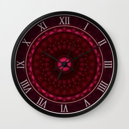Purple mandala Wall Clock
