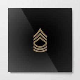 Master Sergeant (Brown) Metal Print