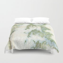 Vintage Map of The Chesapeake Bay (1857) Duvet Cover