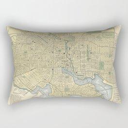 Vintage Map of Baltimore Maryland (1891) Rectangular Pillow