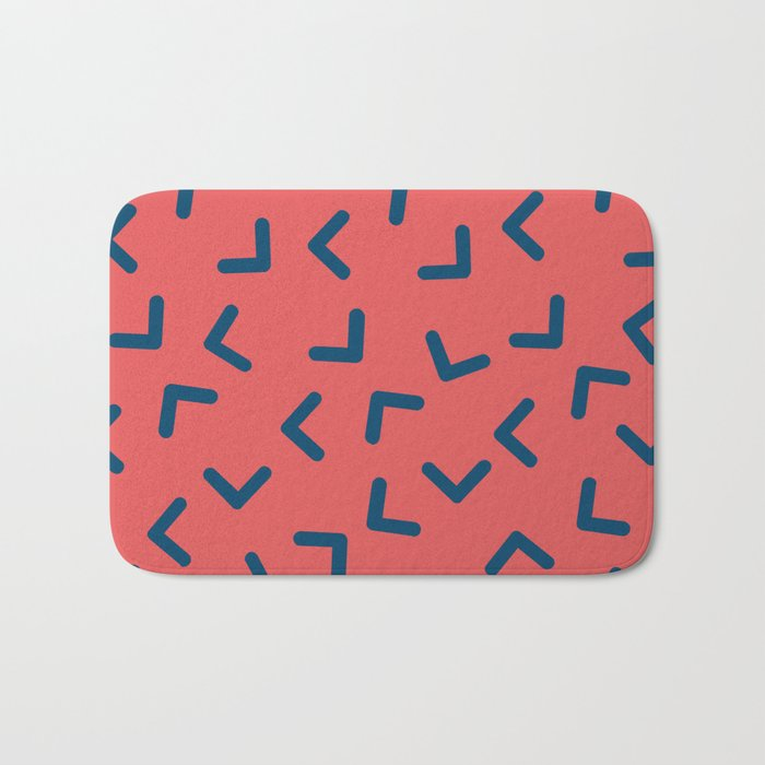 Boomerangs / V pattern Bath Mat