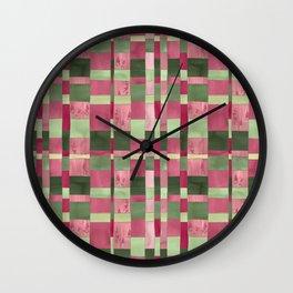 Weaver's Dream / Geometric Meets Floral Wall Clock