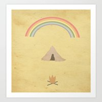 camping Art Prints featuring Camping by Tammy Kushnir