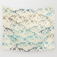 mountains Wall Tapestries featuring Mountains  by rskinner1122