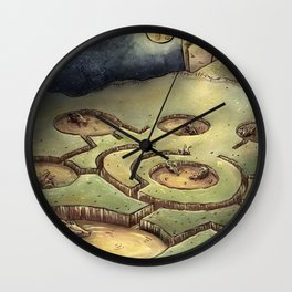 Dark Circles Wall Clock