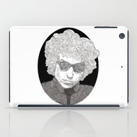 bob dylan iPad Cases featuring Bob Dylan  by Caitlin Dyas