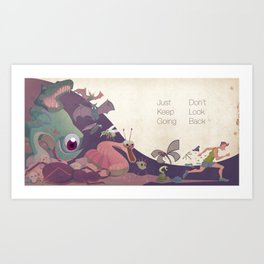 Just keep going Art Print