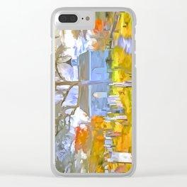 Pop Art Church Clear iPhone Case