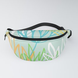Abstract Flower Bunch Fanny Pack