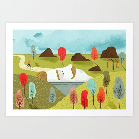 Autumn portrait Art Print