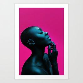 Bald Model (Nell) Art Print