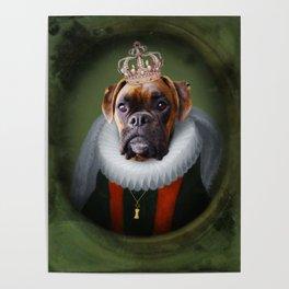 Queen Charlie - Boxer Dog Portrait Poster