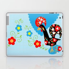 Portuguese Rooster of Luck with blue dots Laptop & iPad Skin