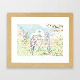 Hero Meeting Framed Art Print