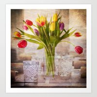 tulips Art Prints featuring Tulips by Fine Art by Rina
