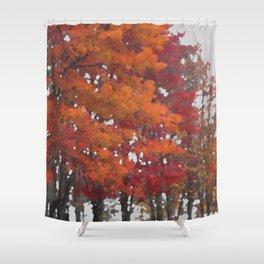 Orange Tree Shower Curtain