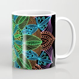 Neon Mandala Coffee Mug