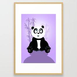 Panda Girl - Purple Framed Art Print