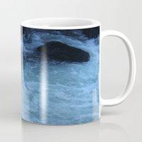 rush Mugs featuring Overhead Rush by Jeffrey J. Irwin