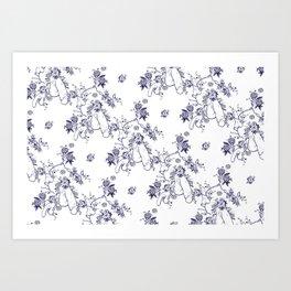 Penis Pattern Art Print