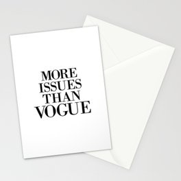 fashion quote, home decor Stationery Cards