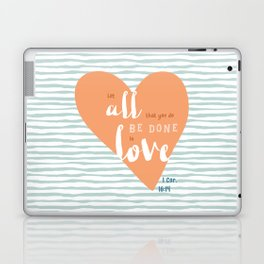 """All in Love"" Hand-Lettered Bible Verse Laptop & iPad Skin"
