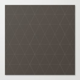 Classic | Brown Triangles Canvas Print