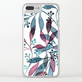 Seeded Eucalyptus Clear iPhone Case