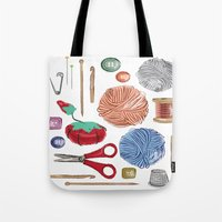 sewing Tote Bags featuring Sewing by Jennifer Epstein