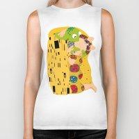 muppets Biker Tanks featuring Klimt muppets by tuditees