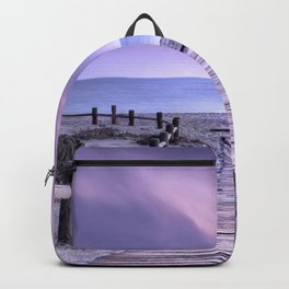 """To the beach...."" Purple sunset Backpack"