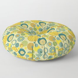 Circle Frenzy - Yellow Floor Pillow
