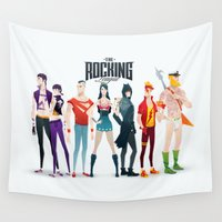 league Wall Tapestries featuring the rocking league by Andres Moncayo