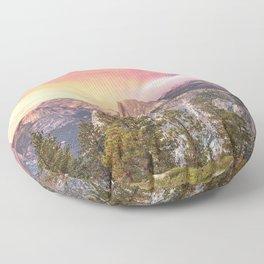 Yosemite Valley Summer Sunrise Floor Pillow