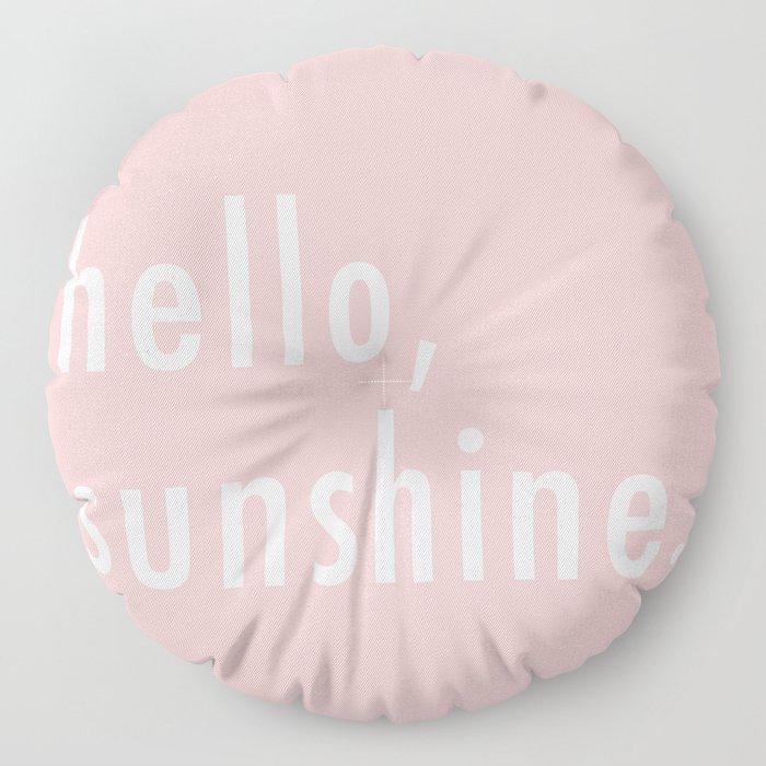 Hello Sunshine Floor Pillow