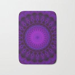 Mandala in blue and purple tones Bath Mat