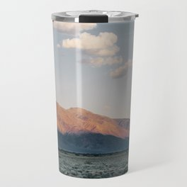 Sierra Mountains with Harvest Moon Travel Mug