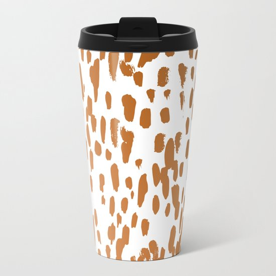 Copper Brushstrokes #society6 #decor #interiors Metal Travel Mug