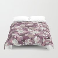 gta Duvet Covers featuring Flowers by eARTh