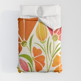 Spring Wildflowers / Floral Illustration Comforters